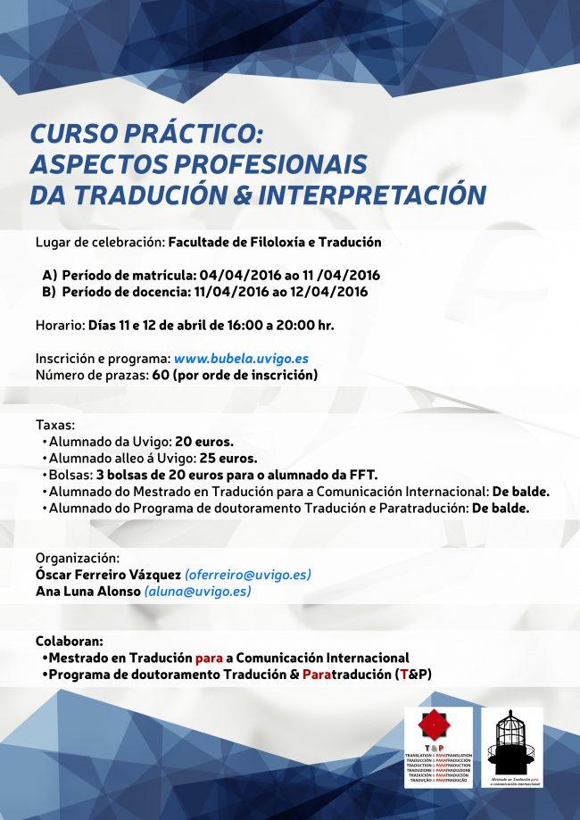 Curso práctico: aspectos profesionais da Tradución & Interpretación ...